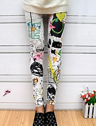 Multi-color Graffiti Printing Fashion Leggings 2 Color