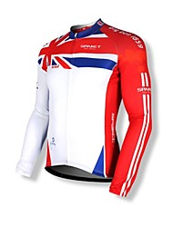 SPAKCT® Cycling Jersey Men's Long Sleeve Bike Breathable / Thermal / Warm / Quick Dry / Front Zipper / Dust Proof / Wearable / YKK Zipper