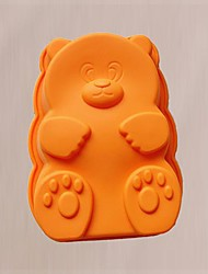 Cartoon Bear Shape Cake Baking Moulds, Silicone Material, Random Color