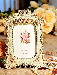 "6""Modern European Style Pearl Polyresin Picture Frame"