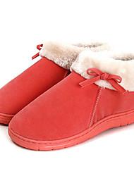 Lässige feste rote Wolle Frauen Slide Slipper