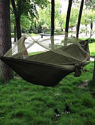 Hamaca(Verde Militar)-Transpirabilidad / Secado rápido / A prueba de polvo / A prueba de viento / Muy ligero / Antimosquitos