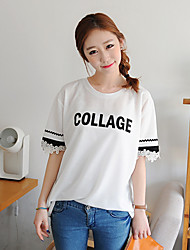 Women's Tops & Blouses , Cotton/Polyester Casual/Cute KYJ