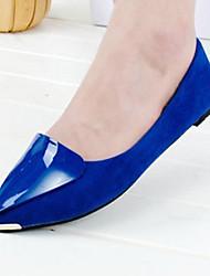 Mujer-Tacón Plano-Confort / BailarinaVestido / Casual-Ante-Negro / Azul