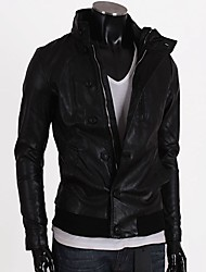 Men's Stand Collar Motorcycle Jacket