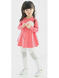 Girl's Solid Dress,Lycra All Seasons