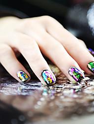 1PCS Лазерная Фольга для ногтей украшения Звездное ногтей наклейки No.19-26 (разных цветов)
