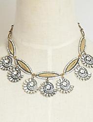 Женская мода Bling Раковины Короткое ожерелье