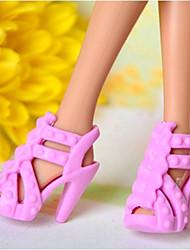 Barbie-Puppe klassische Art Rosa PVC Sandalette