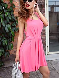 Zoey Women's Backless Pink Dress