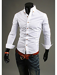 Men's Stand Collar Slim Shirt