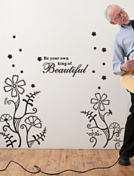 Words & Quotes Be Your Own King Of Beautiful Decorative Wall Stickers