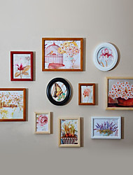 Modern Style Photo Wall Frame Collection - Set of 10