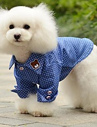 Dog Shirt / T-Shirt / Shirt Blue Dog Clothes Summer Jeans / Polka Dots
