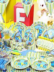 Party Supplies style véhicule pour Baby Shower - Ensemble de 84 pièces
