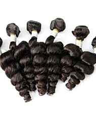 Peruvian Virgin Hair Loose Wave Natural Black Color 24Inch