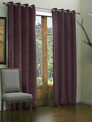 Modern Two Panels Solid  Living Room Purple Curtains Drapes