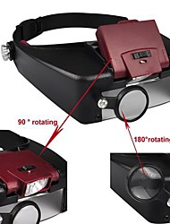 1.5X 8.5x 3X 10X LED Capacete Lupa Eye Glasses Estilo Lupa