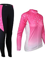 Arsuxeo Women's Cycling Long Sleeves Jersey (Tops + Pants)