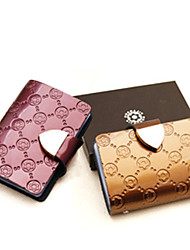 Women'S Patent Leather Embossed Card & Id Holders
