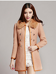 Women's Coats & Jackets , Polyester/Wool Casual MISSWELL