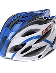 FJQXZ Unisex Außen PC + EPS 22 Vents Blau + Weiß Radfahren Hlemets