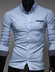 Men's Dots  Slim Long  Sleeve  Shirt