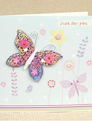 Colorful Butterfly Design Square Side Fold Greeting Card for Mother's Day