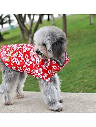 Summer Pet Little Cherry Breathable Fabric Skirt for Pets Dogs