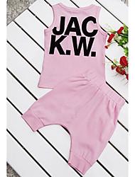 Boy's Cotton Clothing Set , Summer Sleeveless