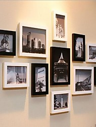 White Black Mixed Color Photo Frame Collection Set of 11