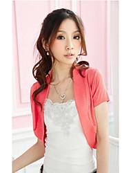 Coats/Jackets Short Sleeve Wool Black / Blushing Pink / Watermelon / Gray Casual
