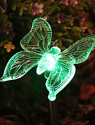 Solar Color-Changing Butterfly Garden Stake Light(CSS-57307)