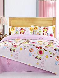 mifang Quilt-Set, 4-teilig aus 100% Baumwolle Blumendruck