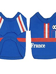 France  Soccer Jersey 100% Cotton  for Pet Dog and Cats  (Assorted Sizes)