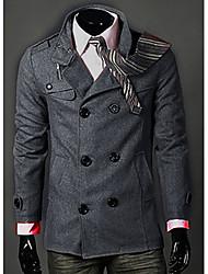 Men's Turndown Collar Woolen Coat