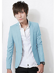 Men's Stand Collar Pure Color Jacket