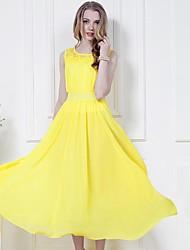 Women's Bohemian Sleeveless Beach Long Dress