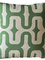 Large Green Spiral Stripes Decorative Pillow Cover