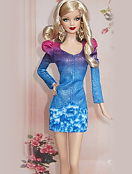 Barbie Doll Blue Office Lady Fashion Suit