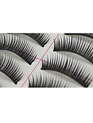10 Pairs Pro High Quality Hand Made Synthetic Fiber Hair Thick Long Style False Eyelashes