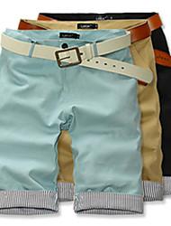 HPXZ Casual Loose Fit 1/2 Long Cotton Short Pants 6425