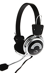 Yh-513-3.5mm Stereo Wire Control PC Computer Headphone Built-In Mic