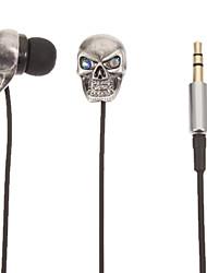 TM01 Skull-Shaped Stereo In-Ear Headphone(Silver)