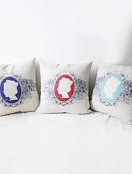 Set of 3 Classic  Queen Elizabeth II in HouseDecorative Pillow Covers