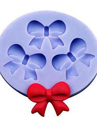 3 бабочка bowknot силиконовый торт плесень шоколад украшения пресс-формы кухонные инструменты для выпечки