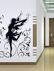 1pcs sticker mural de fées amovible colorée