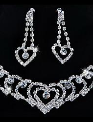 свадьба элегантный rhinetone Crytal серьги& ювелирные изделия ожерелья и др