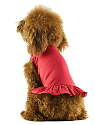 Summer Cotton T-Shirt for Dogs Red / White / Blue / Pink / Black XS / M / XL / S / L / XXL