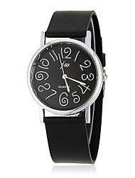 Women's Simple Numbers Dial Black Rubber Band Quartz Analog Wrist Watch (Assorted Colors) Cool Watches Unique Watches